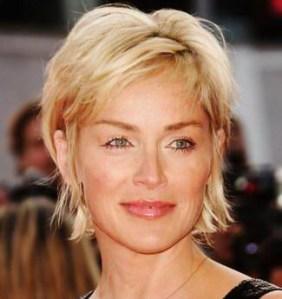 Sharon Stone Short Hair Style