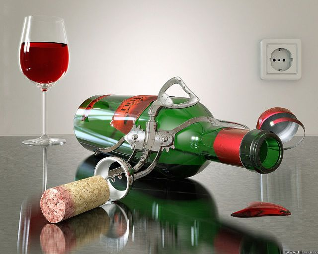 red-wine-in-green-bottle