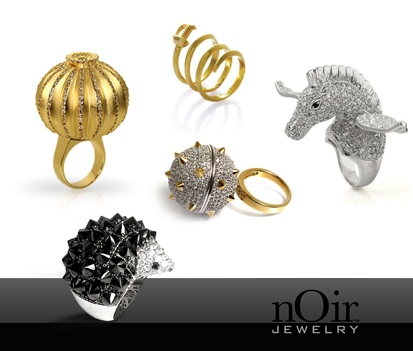 huge jewelry collection of famous company noir jewelry designer and