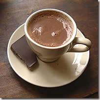 Minuman cokelat panas